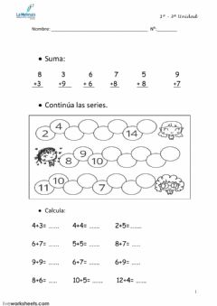 Interactive worksheet Mate