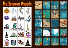 Halloween Puzzle worksheet preview