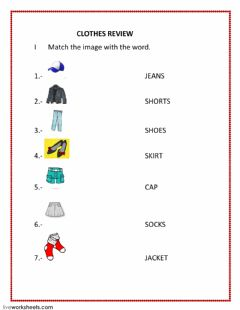 Interactive worksheet REVIEW CLOTHES