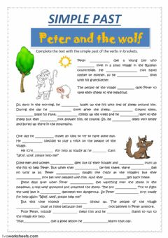 PETER and the wolf worksheet preview