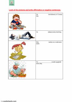 simple present worksheet preview