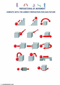 PREPOSITIONS OF MOVEMENT J3  n°1 worksheet preview