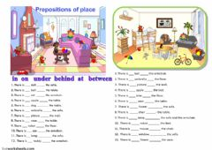 Interactive worksheet prepositions
