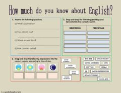 English exercises basic greetings review worksheet preview m4hsunfo