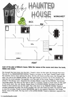 Interactive worksheet The Haunted House