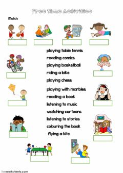 Interactive worksheet Free Time Activities (with video)
