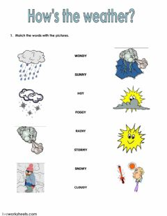 Interactive worksheet Seasons and clothes