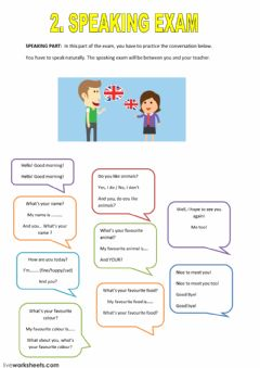 Interactive worksheet speaking
