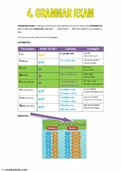 Ficha interactiva grammar present simple verb to be
