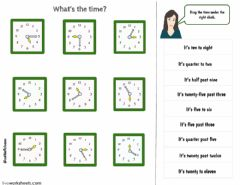 What's the time? worksheet preview