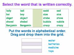 Interactive worksheet Spelling and Alphabetical Order