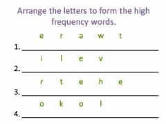 Interactive worksheet Make words