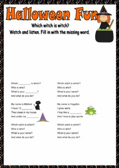 Halloween fun worksheet preview