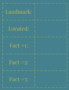 Interactive worksheet Landmark of the Week