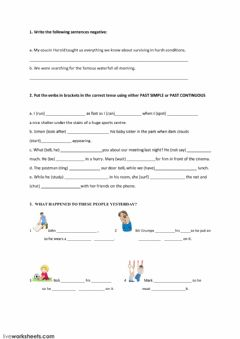 Interactive worksheet PAST SIMPLE and PAST CONTINUOUS