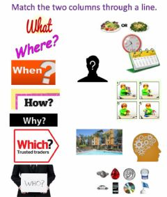 Interactive worksheet Question Words Matching