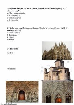 Interactive worksheet Ruta Edat Mediaval
