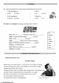 Evaluation test worksheet preview