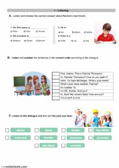 Interactive worksheet Evaluation test