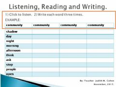 Interactive worksheet Challenge 3 LRW 2