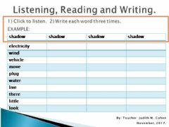 Interactive worksheet Challenge 3 LRW 3