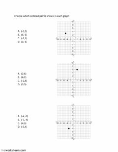 Interactive worksheet Plotting Points