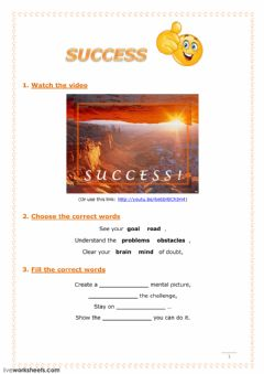 Interactive worksheet Success