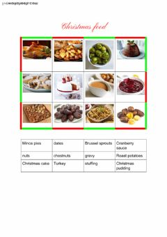 Ficha interactiva Christmas food