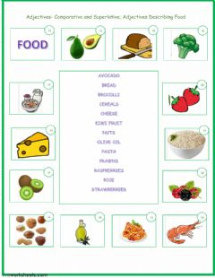 Comparison and Superlative of Adjectives worksheet preview