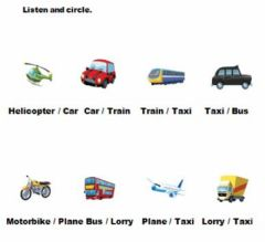 Interactive worksheet Transport. Listen and choice