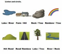 Countryside. Listen and choice worksheet preview
