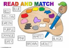 Interactive worksheet Match the colours