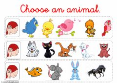 Choose an animal worksheet preview