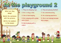 Interactive worksheet At the playground 2