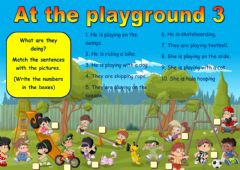 Interactive worksheet At the playground 3