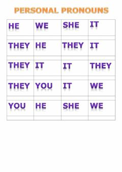 Interactive worksheet Personal Pronouns 4