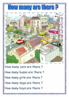 Interactive worksheet How many are there ?