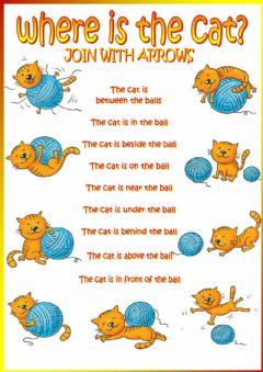 Interactive worksheet Where is the cat?