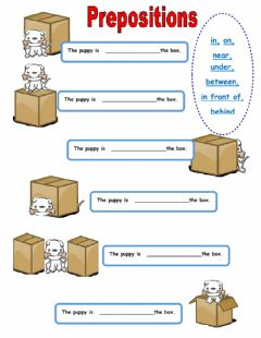 Interactive worksheet Where is the puppy?