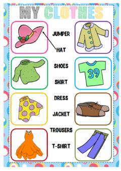 Clothes (Matching) worksheet preview