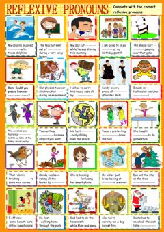 Interactive worksheet Reflexive pronouns : practice