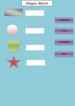 Interactive worksheet Shapes Match