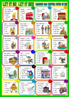 Interactive worksheet Let it be! Be four young learners