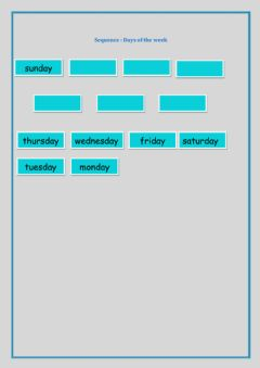 Interactive worksheet Sequence:Week Days