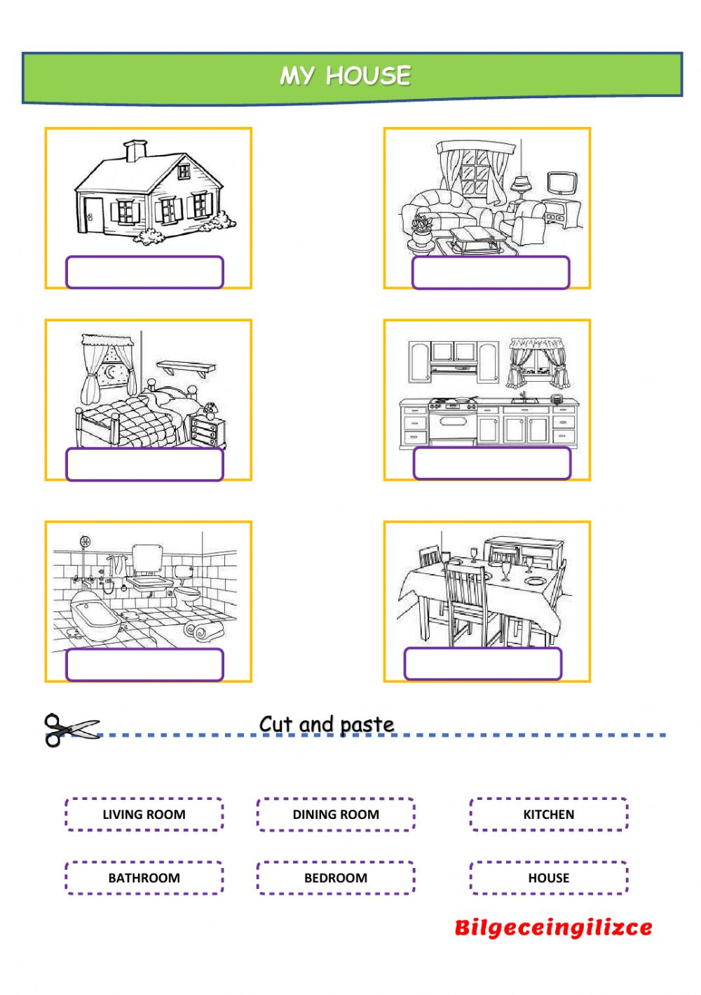 Esl Rooms In A House Worksheet