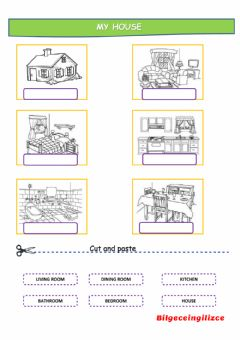 Interactive worksheet MY HOUSE(with video)-drag and drop