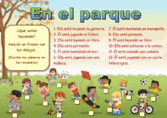Interactive worksheet En el parque