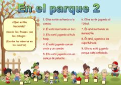 Interactive worksheet En el parque 2