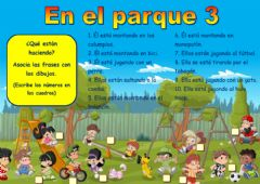 Interactive worksheet En el parque 3