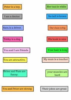 Pronouns-possessives worksheet preview